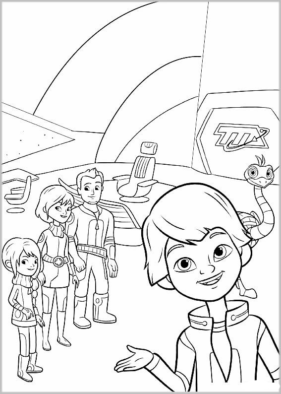 Miles From Tomorrowland Coloring Pages To Download And