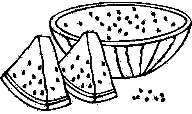 Watermelon coloring pages to download