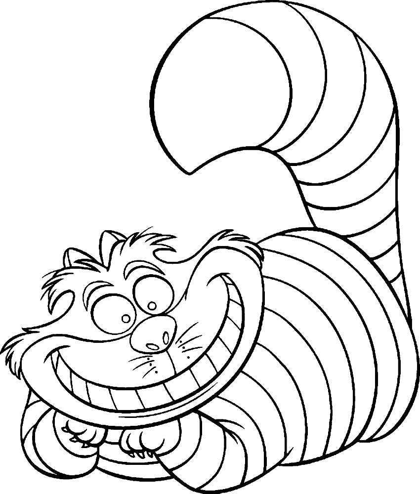 Cheshire Cat Coloring Pages to