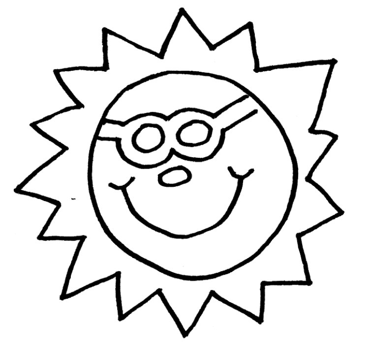 coloring pages sunshine - photo#18