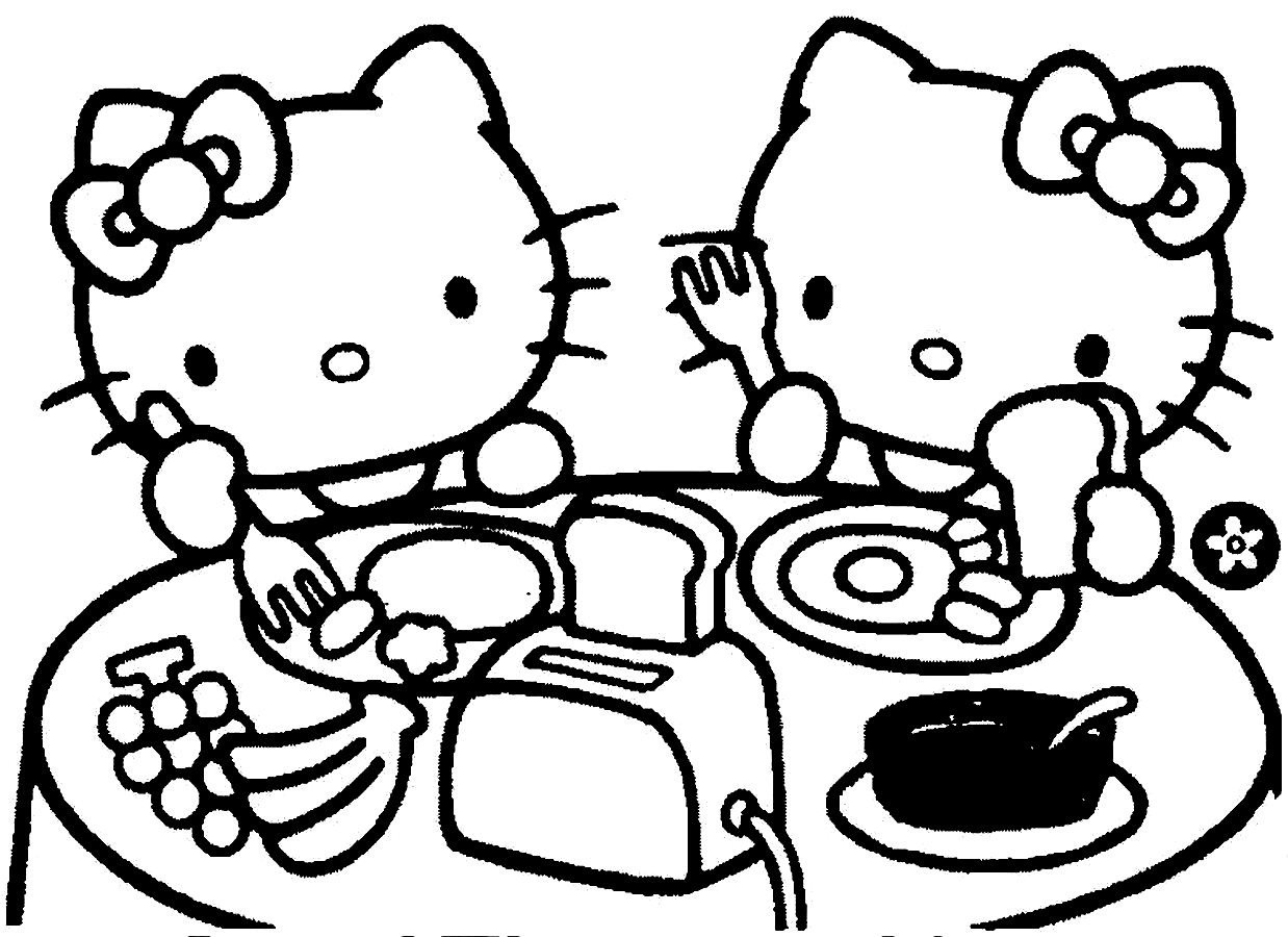 Breakfast Coloring Page - Coloring Pages Ideas