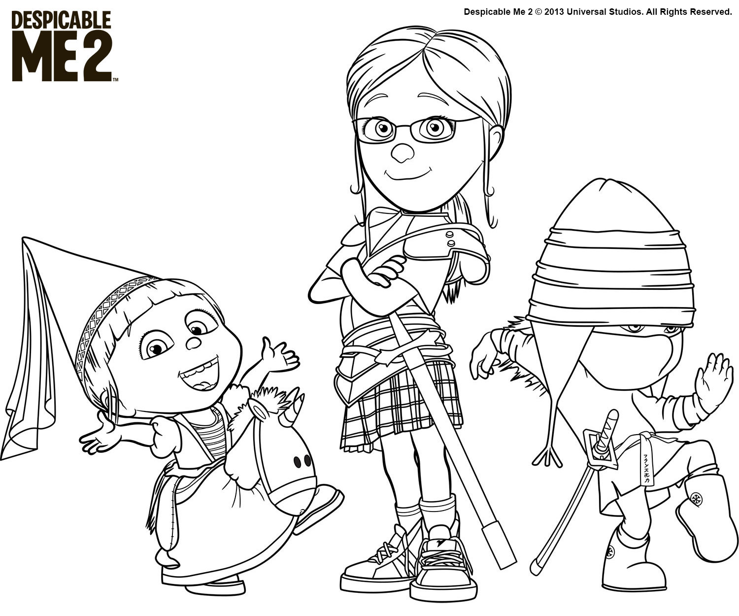 despicable me two coloring pages - photo#44