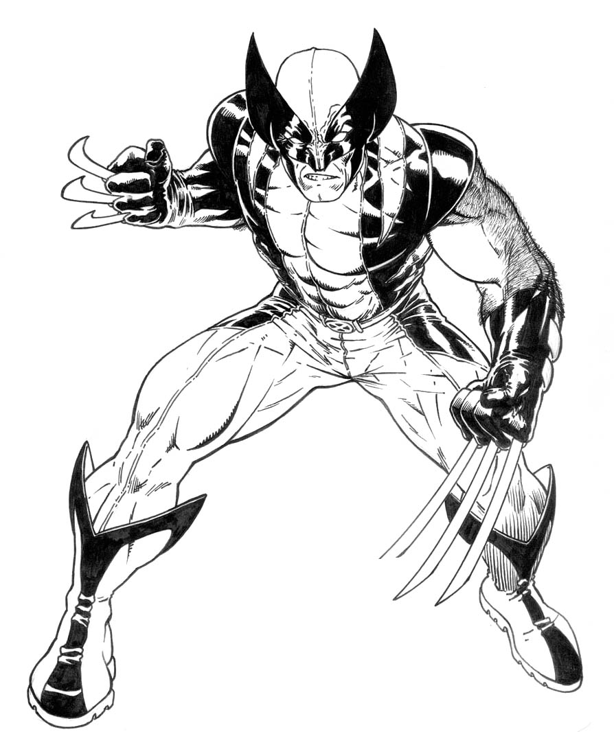 free coloring pages of wolverine - photo#16
