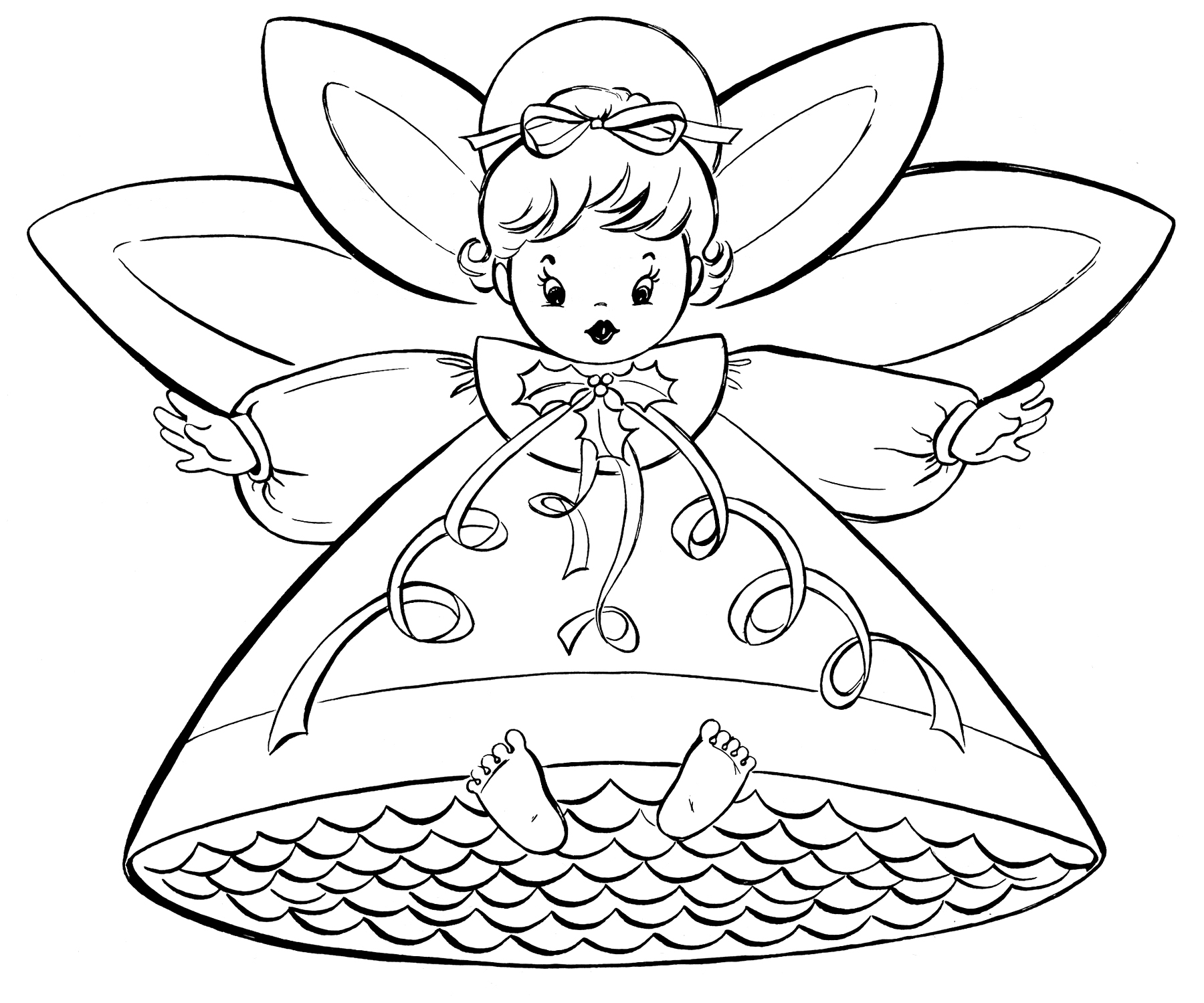 christmas fairy coloring pages download and print for free
