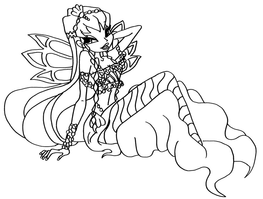 Winx coloring pages to download and print for free