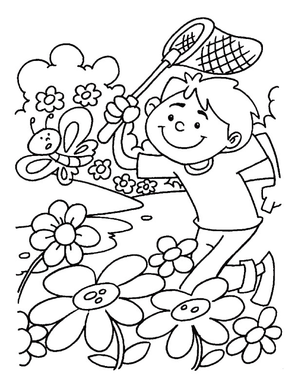great spring coloring pages - Spring Coloring Pages Printable