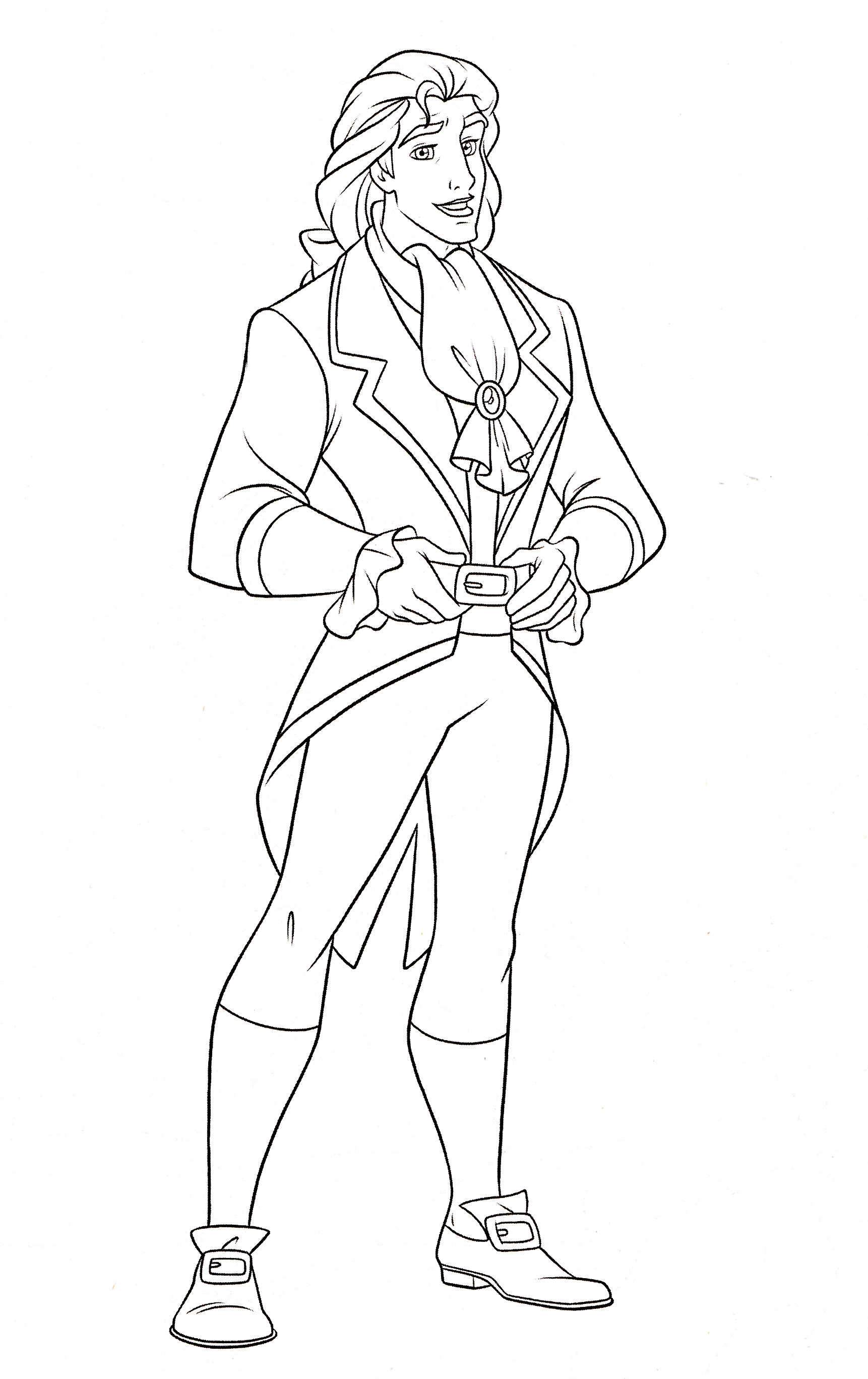 This is a photo of Gorgeous Prince Coloring Page