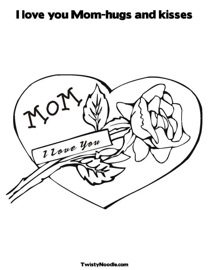 I love you mom coloring pages to download and print for free