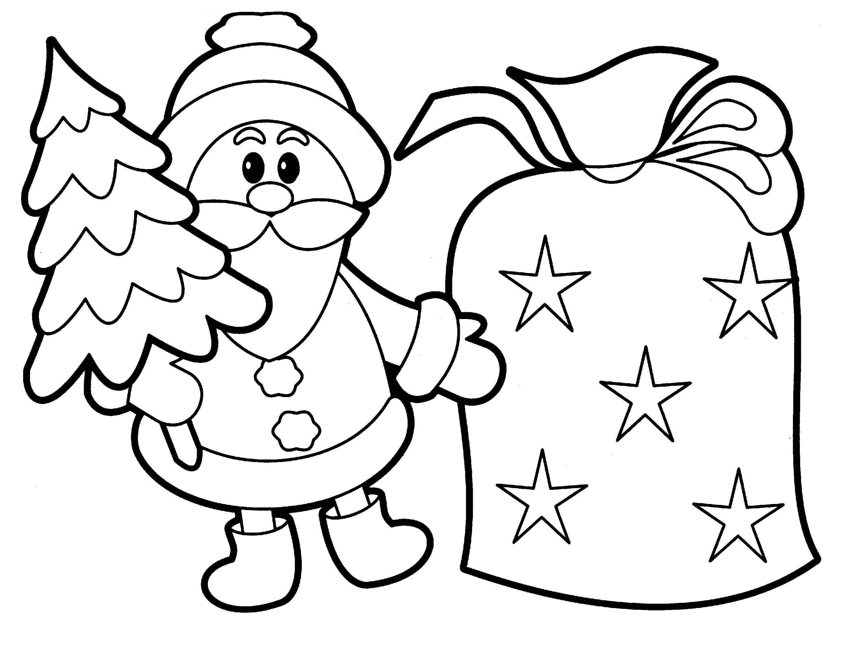 santa claus coloring pages to download and print for free