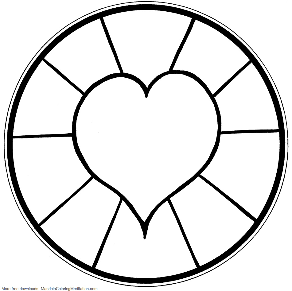 Simple mandala coloring pages download