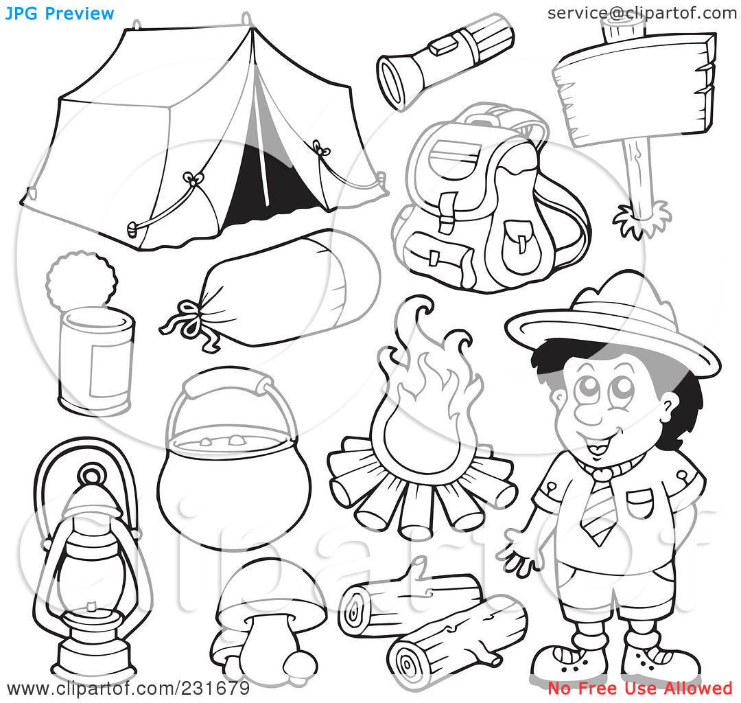It is an image of Transformative Coloring Pages Camping Theme