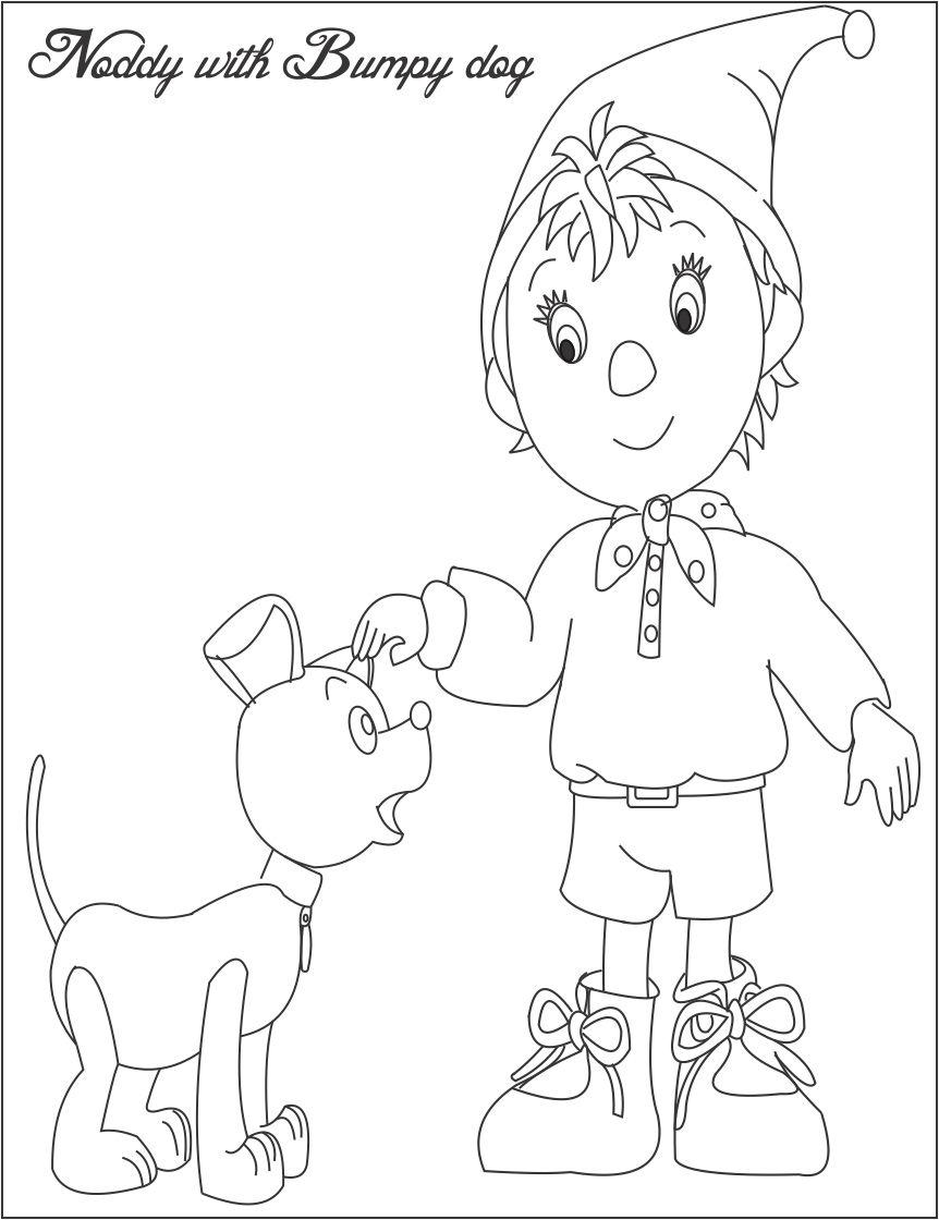 Noddy Coloring Pages Download And Print For Free Noddy Colouring Pages