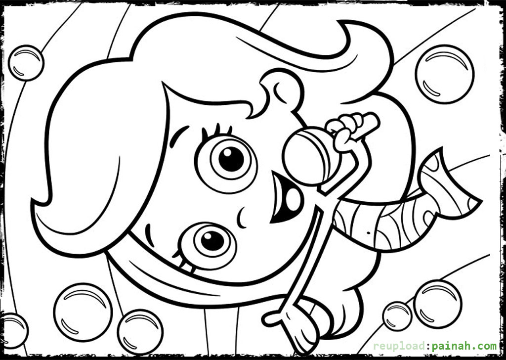 Molly bubble guppies coloring pages download and print for ...