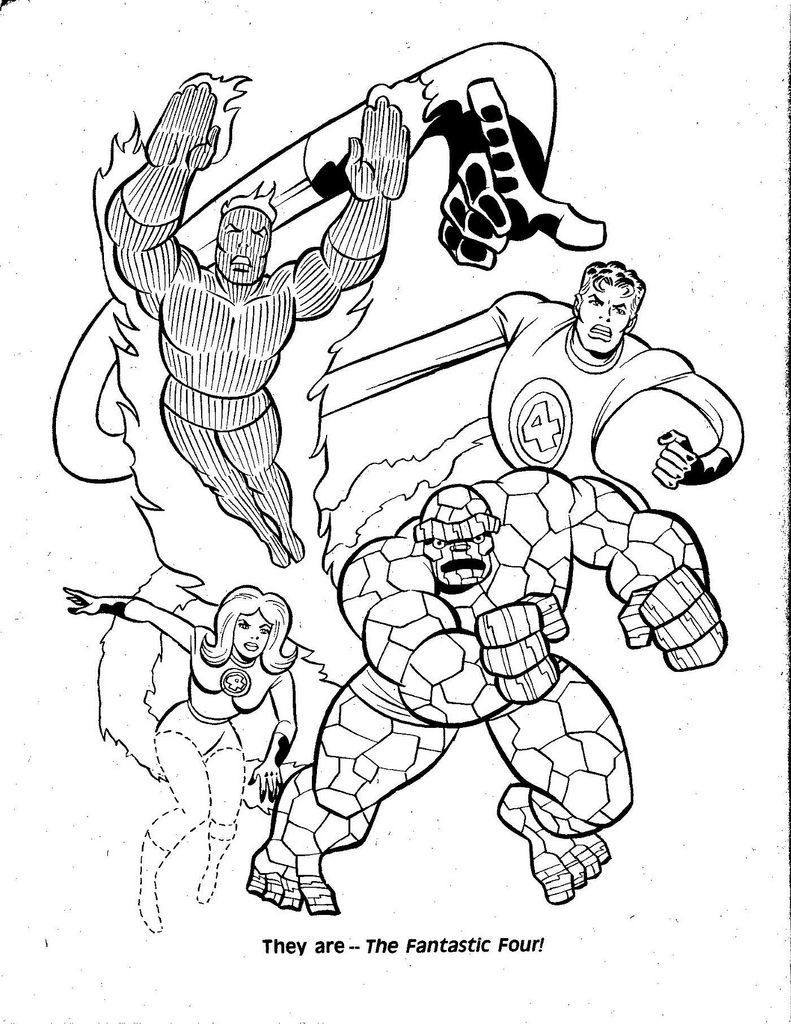 Fantastic 4 coloring pages download