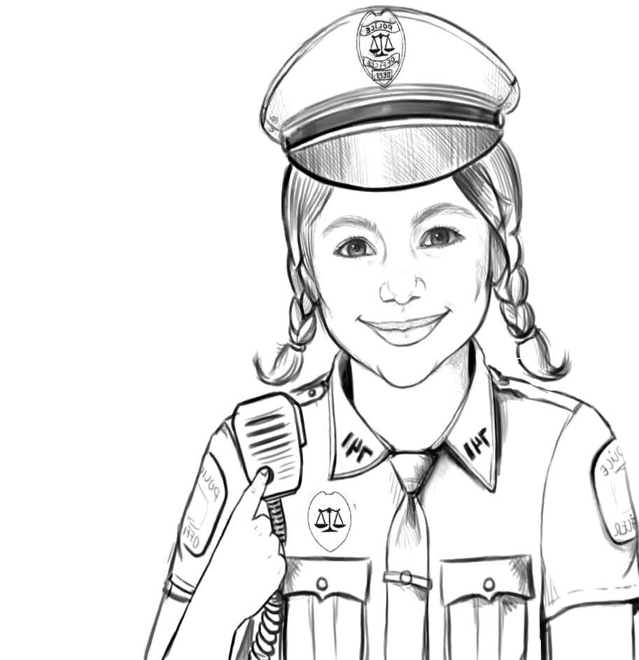 Нарисованные картинки девушки курсанты