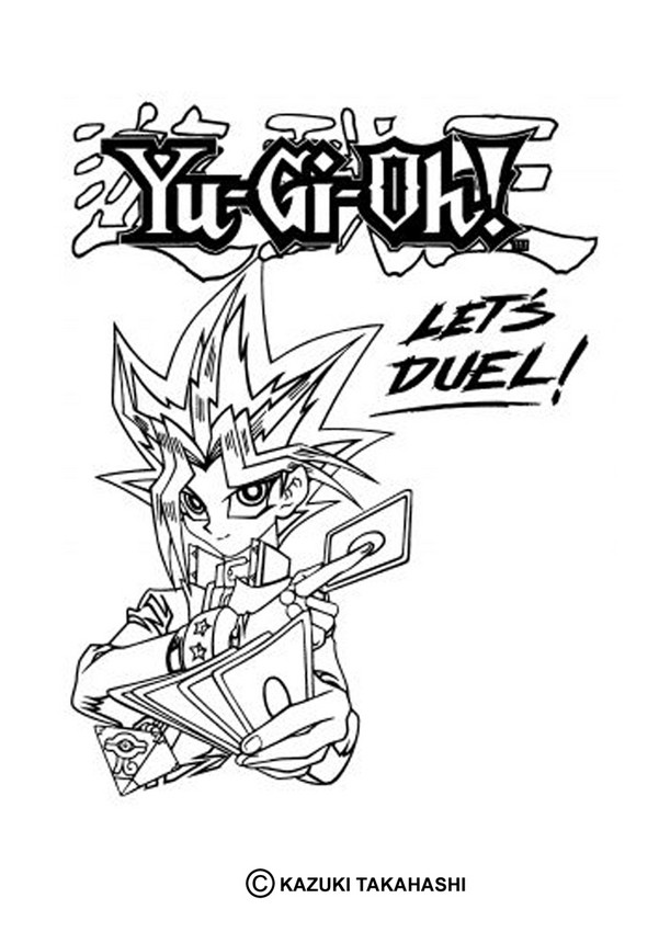 Yugioh coloring pages to download