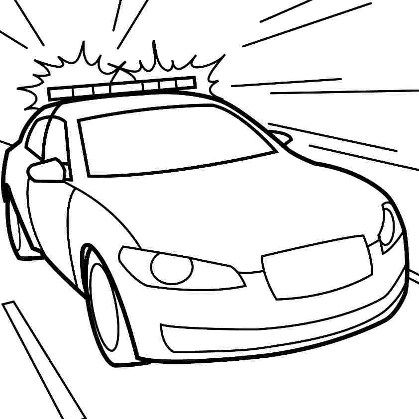 police car coloring pages - Police Car Coloring Pages