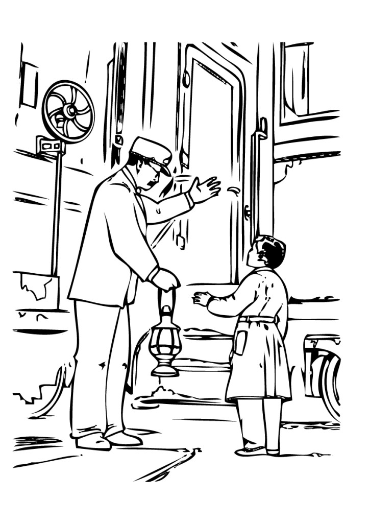 Polar express coloring pages to