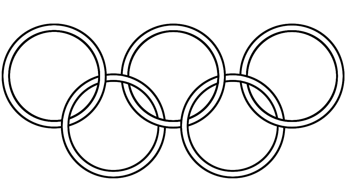 Olympic circles coloring pages download and print for free