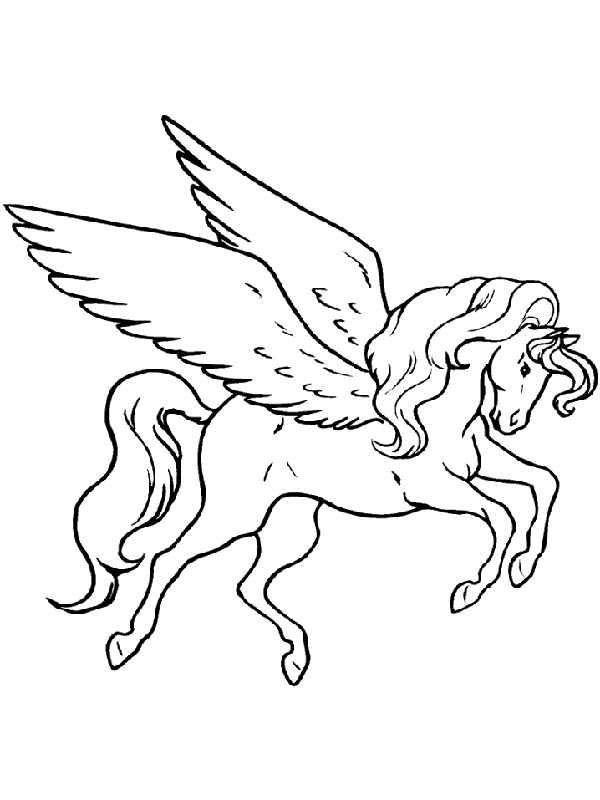 Pegasus coloring pages to download