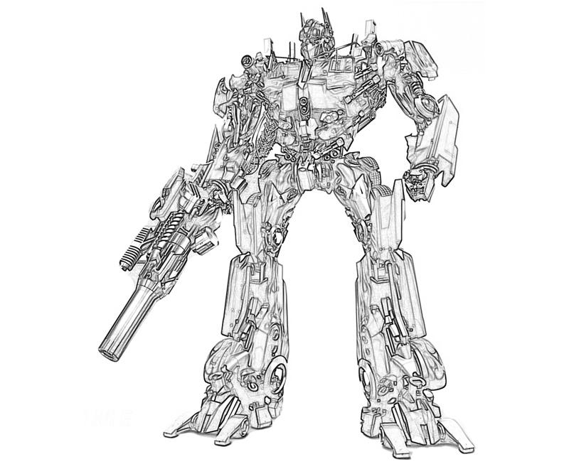 Optimus prime coloring pages to