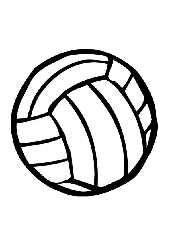 printable volleyball coloring pages - photo#11