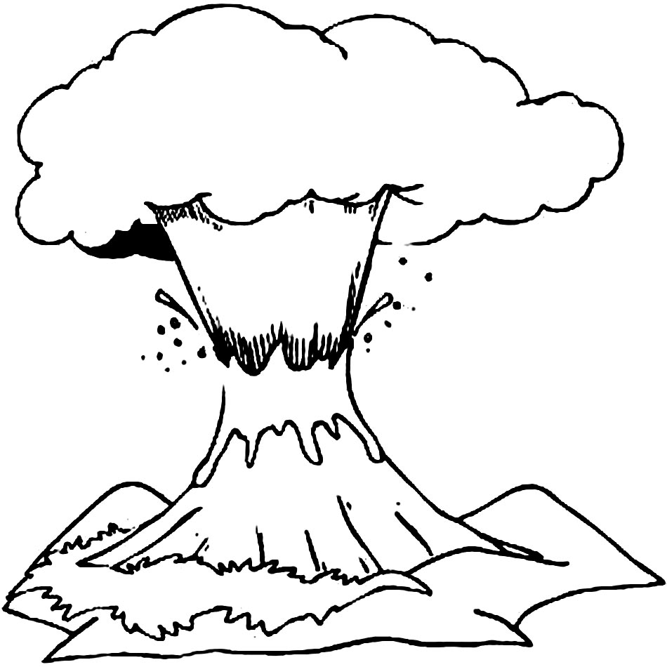 Volcano Coloring Pages To Download And Print For Free