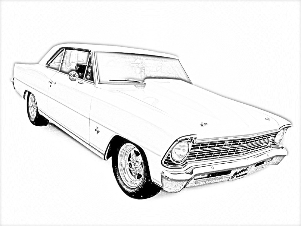 Muscle car coloring pages to download