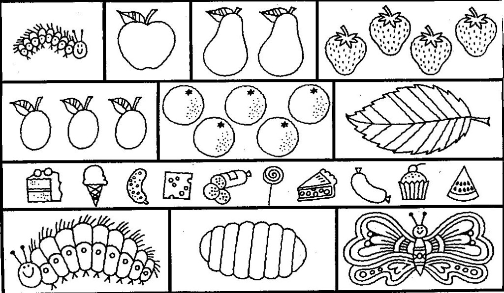 Coloring Pages Very Hungry Caterpillar