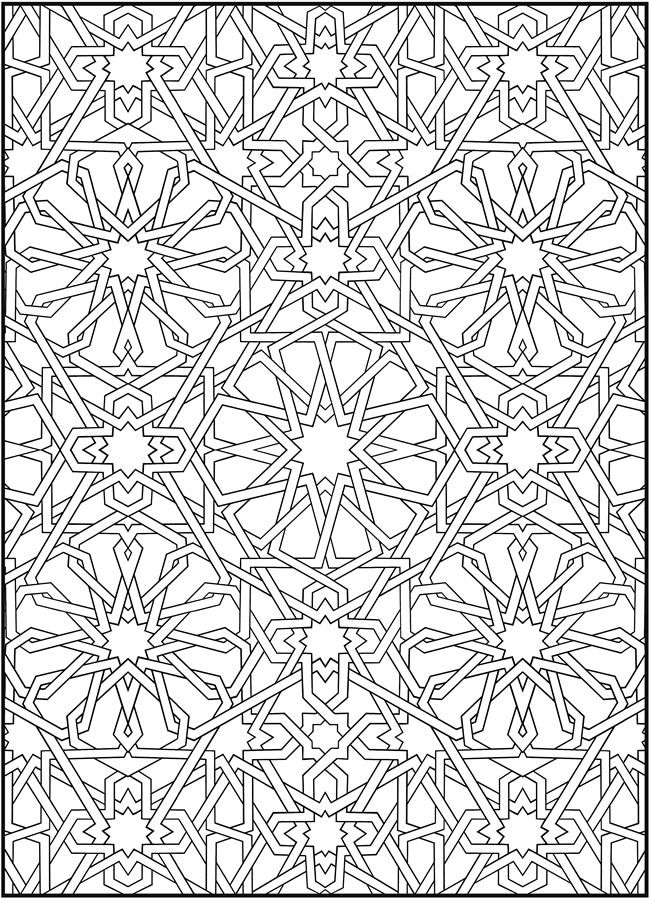 Coloring Book Patterns : Mosaic coloring pages to download and print for free