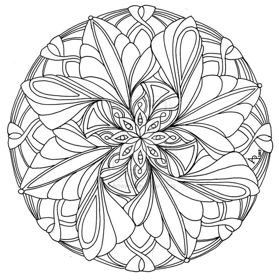 Mandala coloring pages to download and print for free for Printable mandala coloring pages for adults