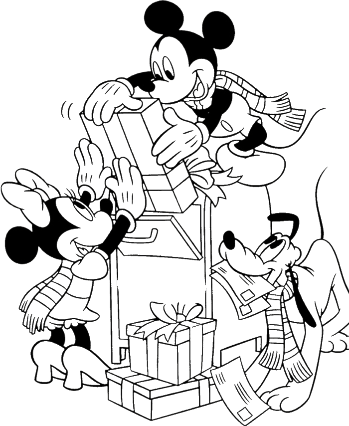 mickey mouse coloring pages christmas | Mickey mouse christmas coloring pages to download and ...