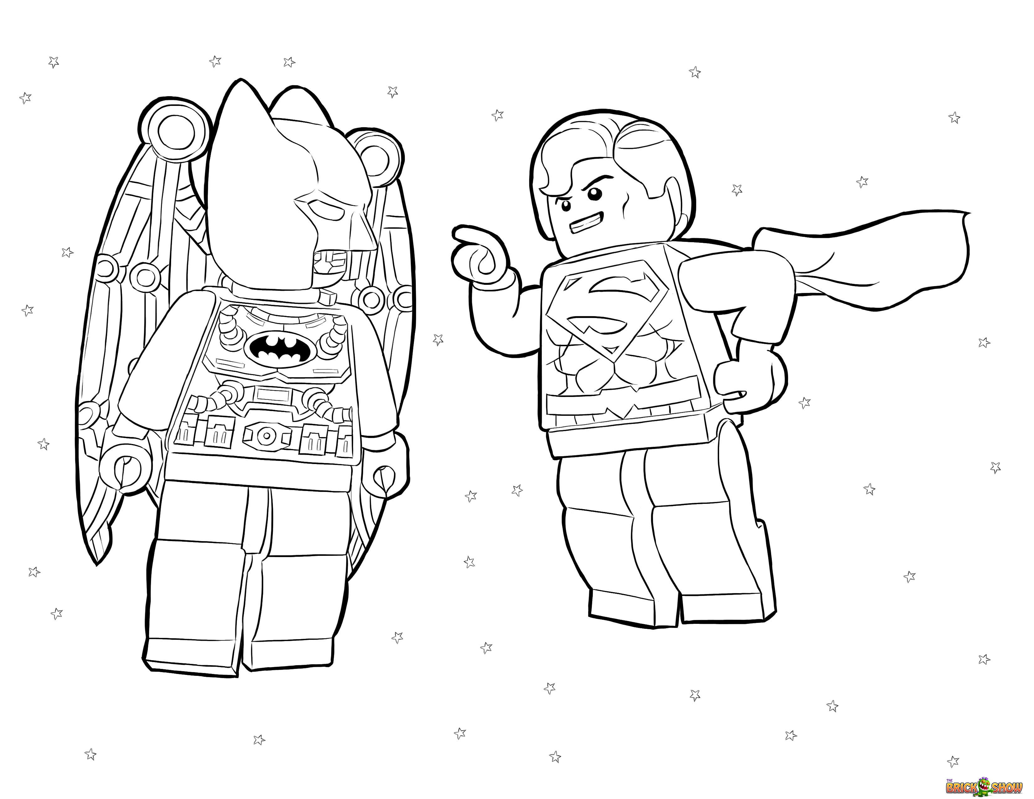 Lego batman coloring pages to download