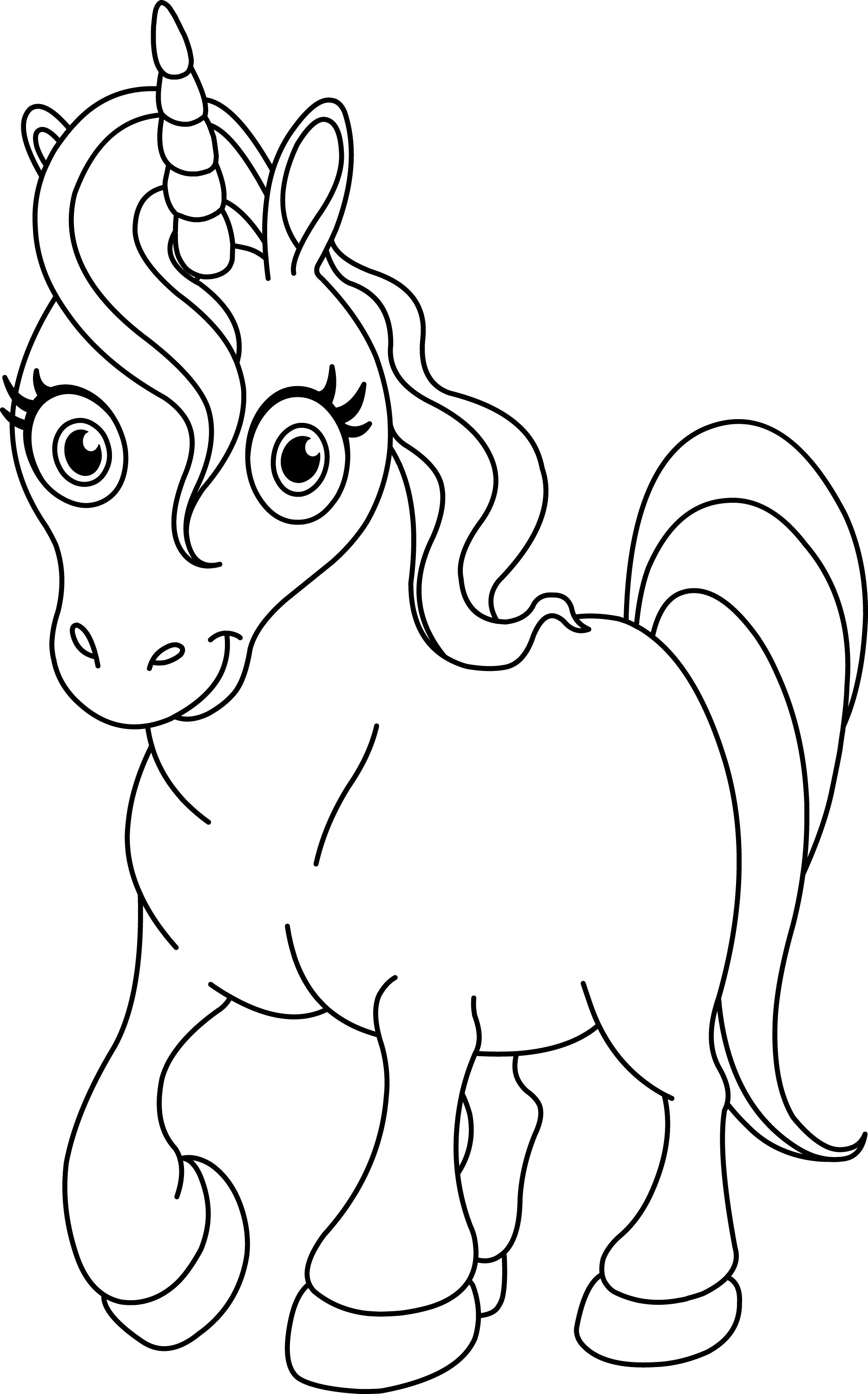 Unicorn coloring pages to print - Unicorn Coloring Pages