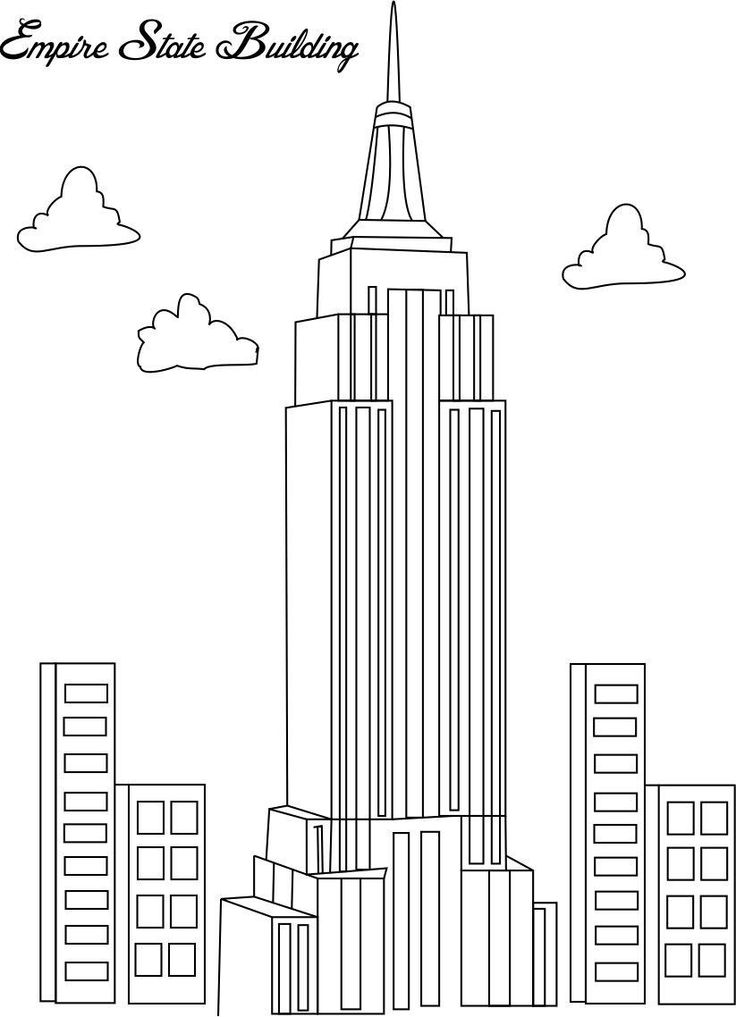 Coloring pages buildings ~ Building coloring pages to download and print for free