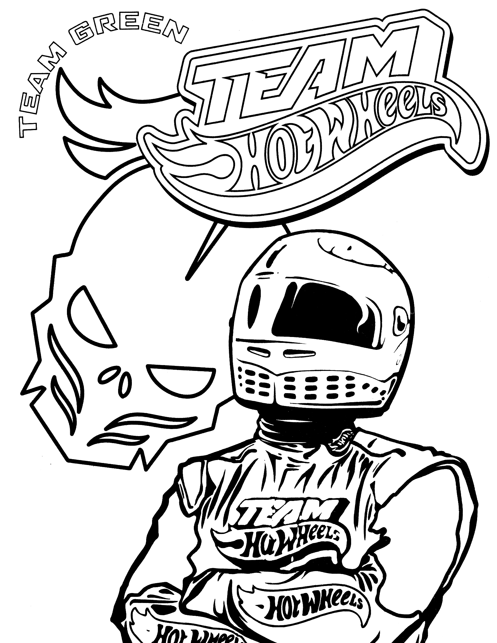Hot wheel coloring pages to download
