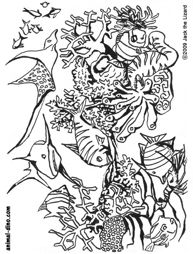 Under the sea coloring pages to