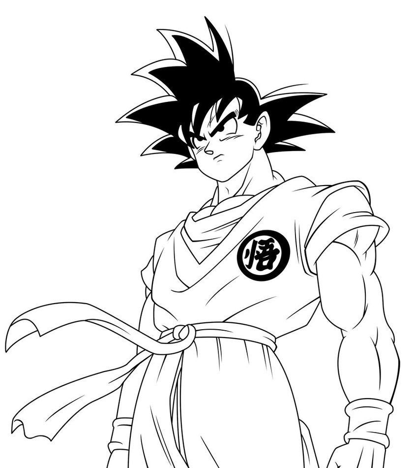Goku coloring pages to download