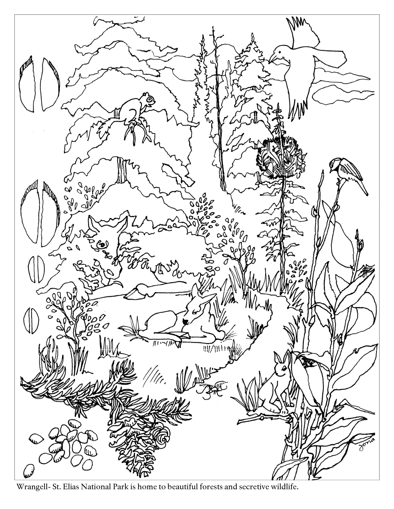 Action Cute Forest Coloring Page Images cute forest coloring pages to download and print for free images