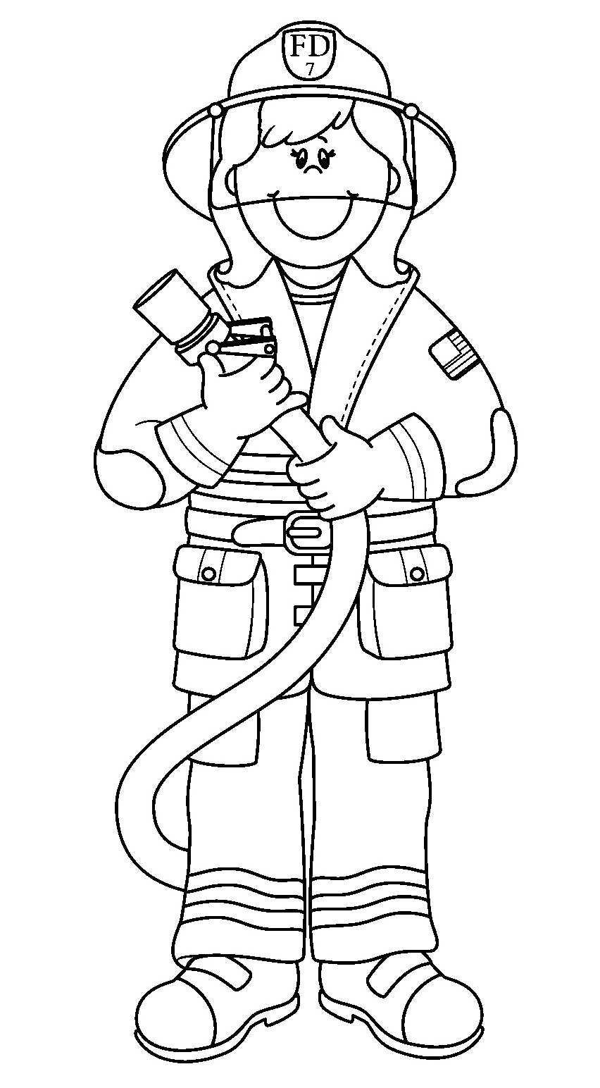 Firefighter coloring pages to download and print for free