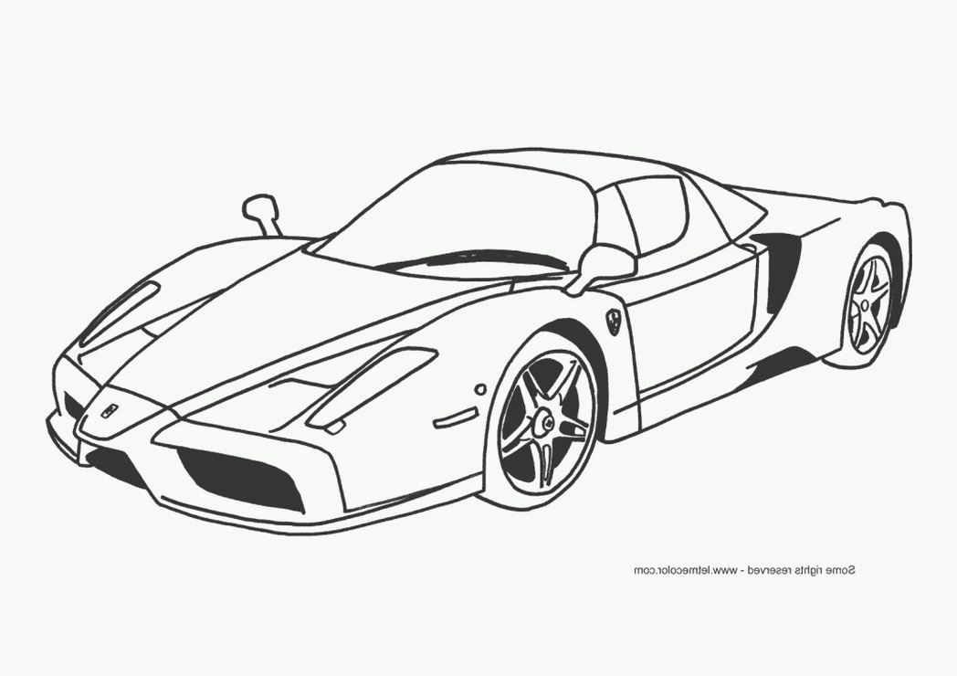 Colouring Pages Ferrari Car : Ferrari coloring pages to download and print for free