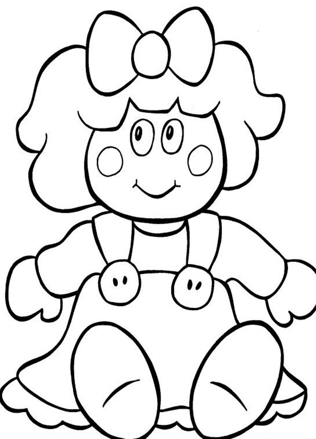 Doll coloring pages to download and print for free