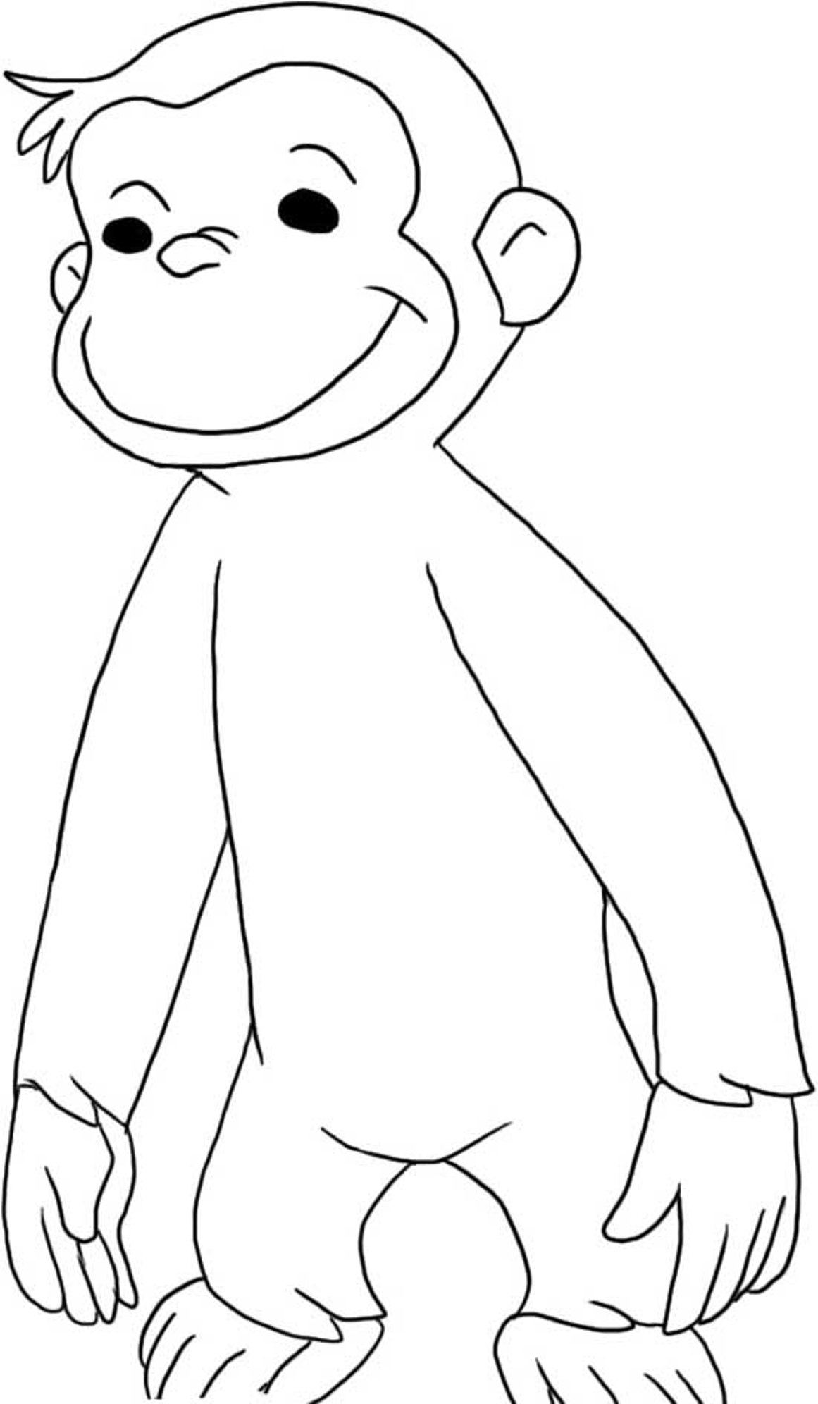 It's just a graphic of Peaceful Curious George Printable Coloring Pages