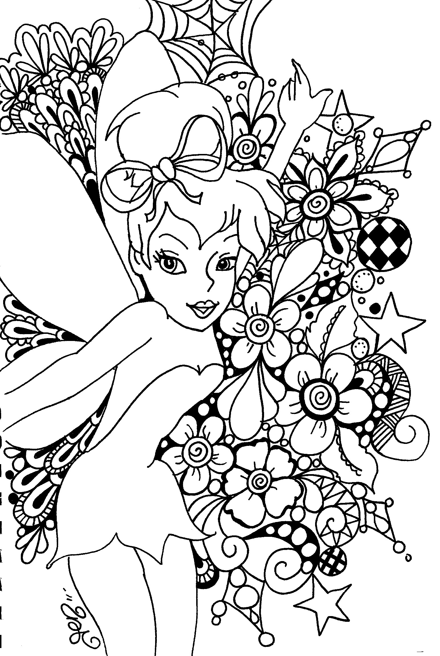 Disney princess coloring pages tinkerbell