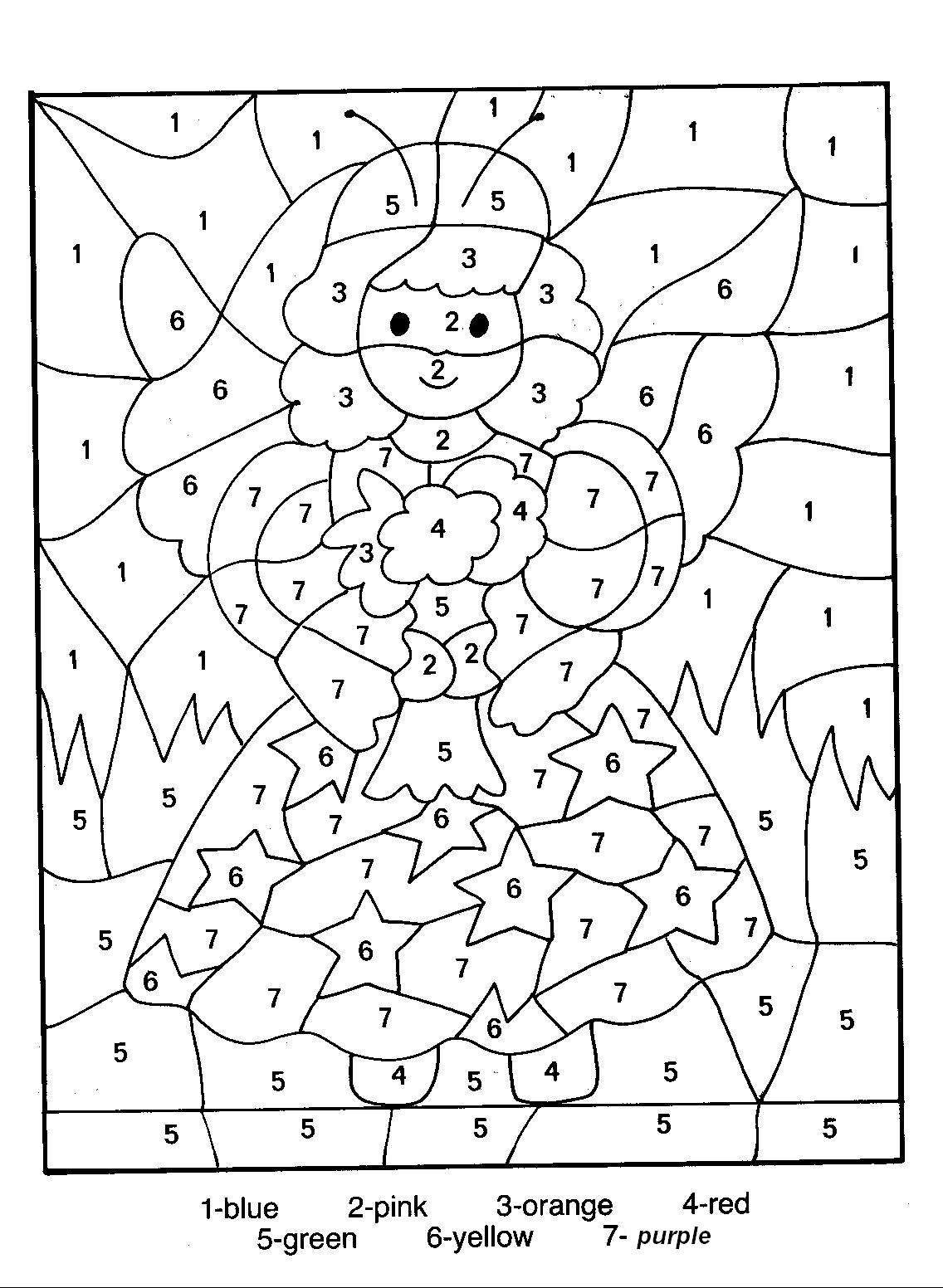 christmas color by number coloring pages printable fun color page 9 587 christmas color by number
