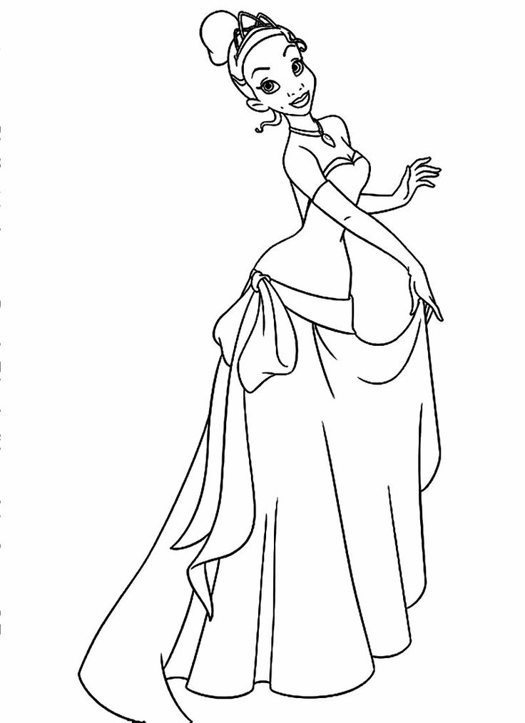 Tiana coloring pages to download