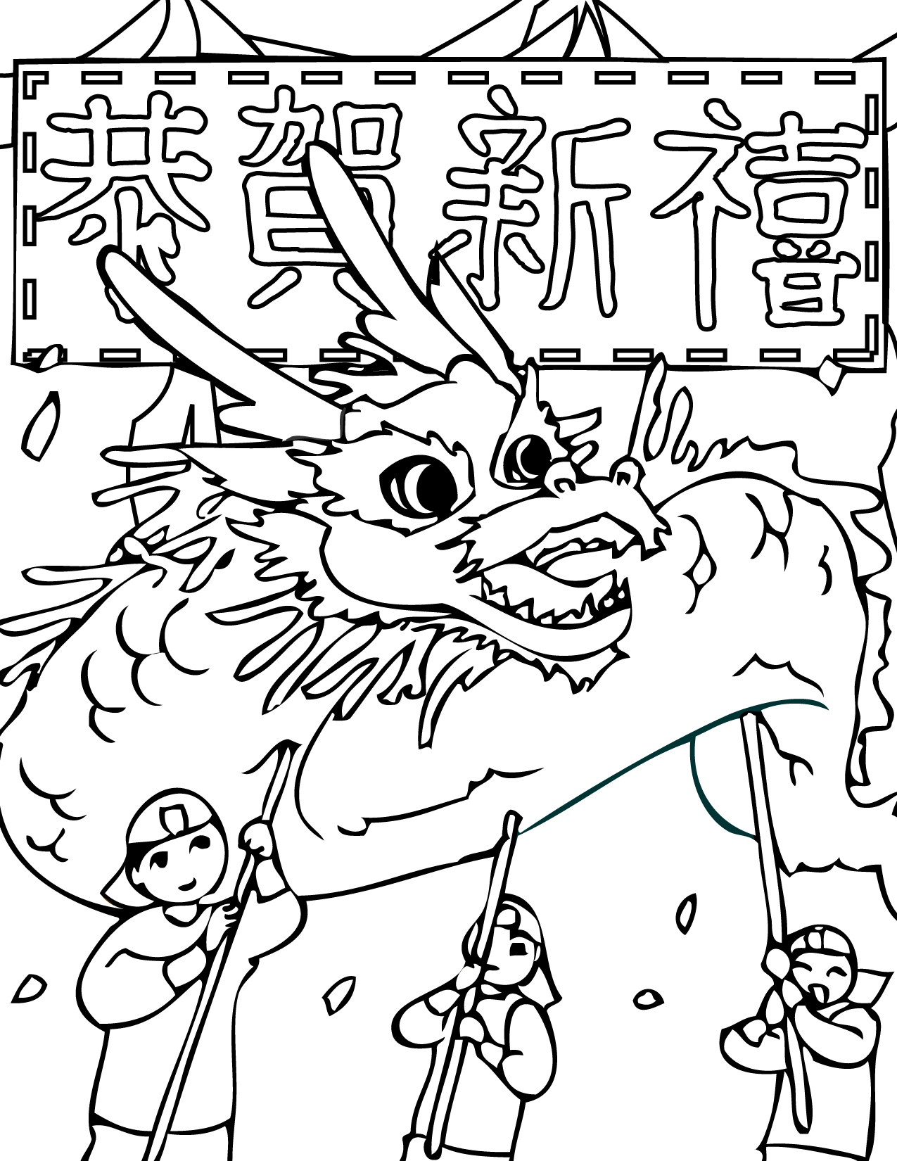 Chinese coloring pages to download