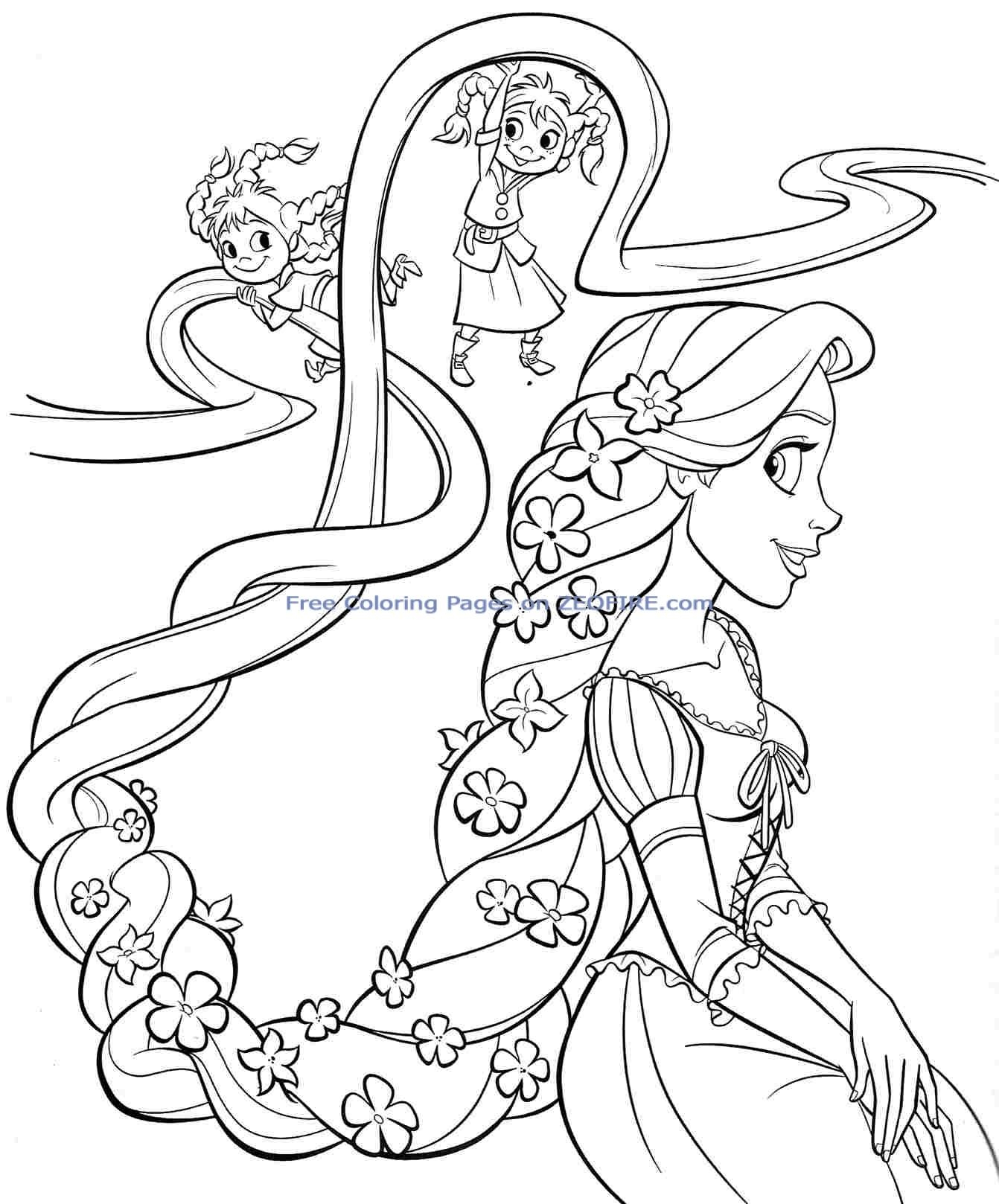 Baby princess coloring pages to download and print for free for Princess printable color pages