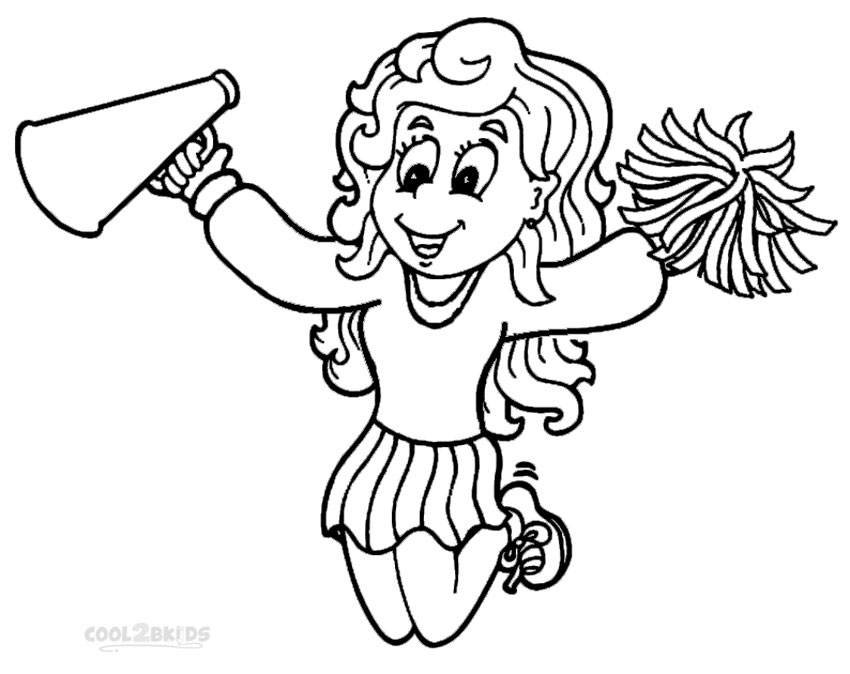 Cheer coloring pages to download