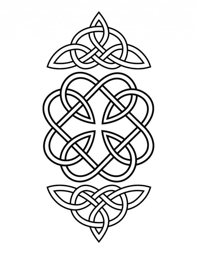 free celtic symbols coloring pages | Celtic knot coloring pages to download and print for free